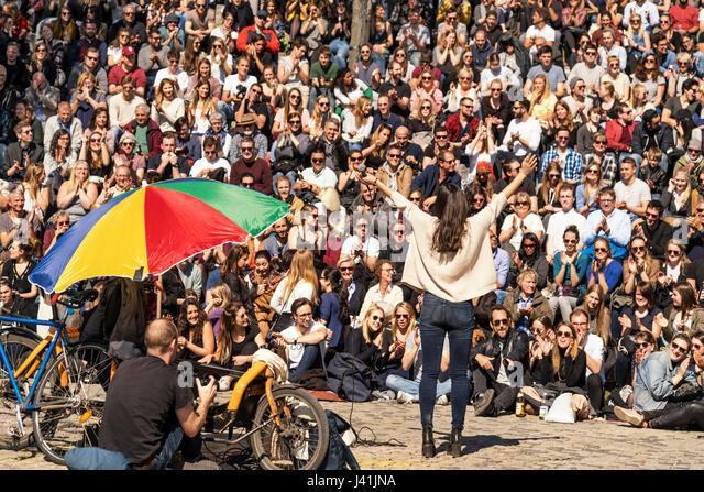 Öffnen Sie Stage Karaoke, Mauerpark, Prenzlauer Berg, Berlin, Deutschland Stockbild