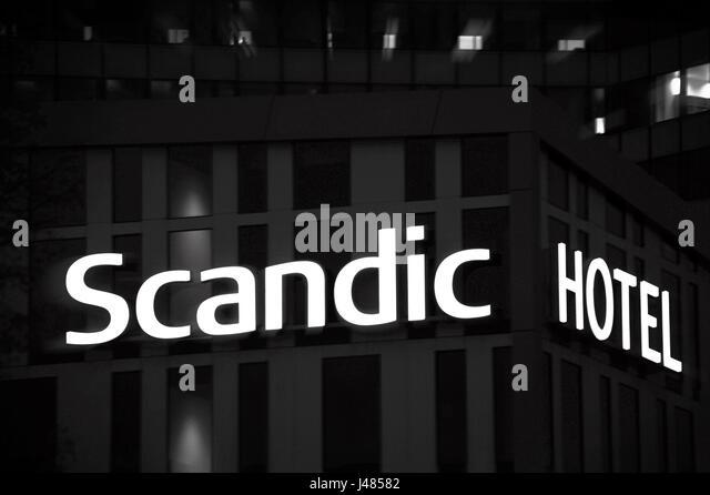 Scandic Hotel, Hamburg, Deutschland Stockbild