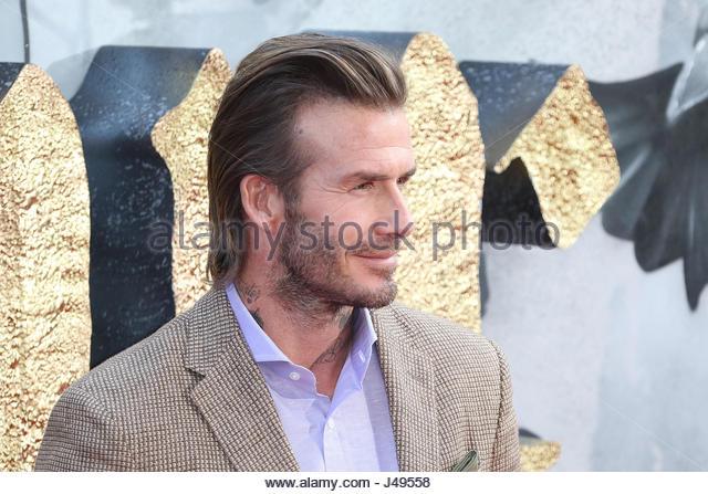 London, UK. 10. Mai 2017. David Beckham besucht König Arthur: Legende der Europäischen Schwert premiere Stockbild