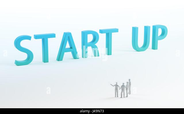Unternehmen - 3D-Konzept Abbildung starten Stockbild