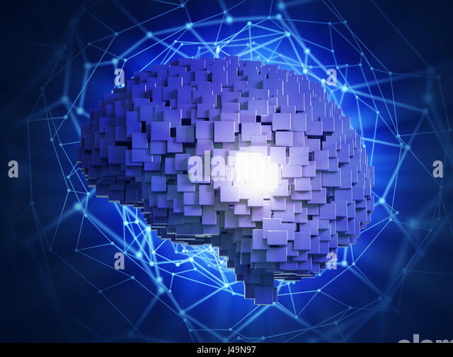Künstliche Intelligenz-Konzept-3D-Illustration Stockbild