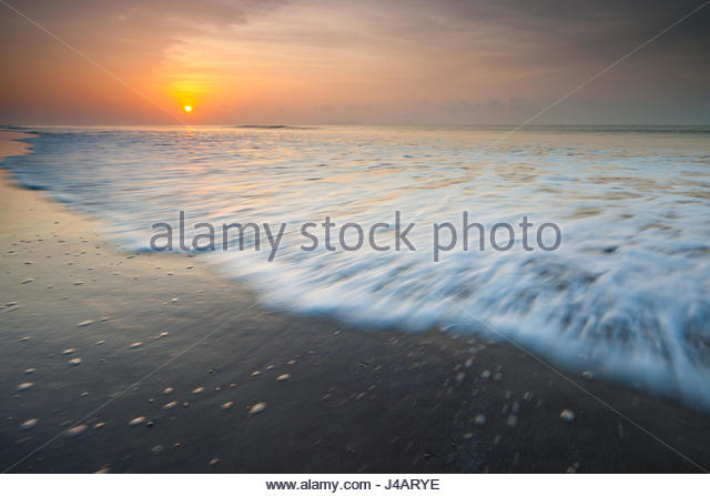 Sonnenaufgang am Punta Chame, Pazifikküste, Republik Panama Stockbild