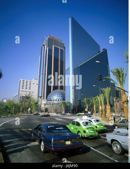 Mexiko, Mexiko-Stadt, Avenida Paseo De La Reforma, Straßenszene, Börse von Mittelamerika, Stadt, Stadt, Stockbild
