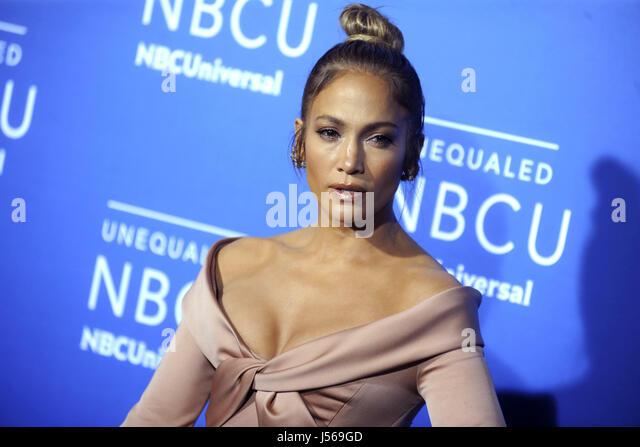 Jennifer Lopez nimmt am 15. Mai 2017 2017 NBCUniversal Upfront in der Radio City Music Hall in New York City an. Stockbild