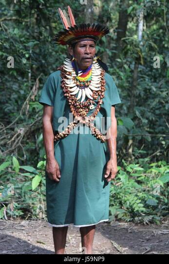 Amazonas-Schamanen Stockbild
