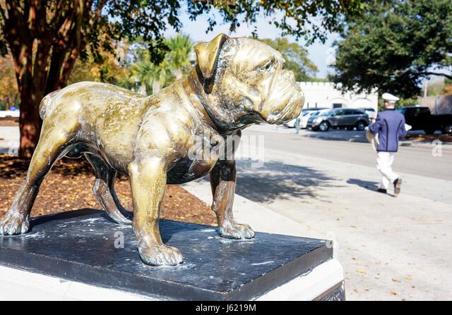 Charleston South Carolina die Zitadelle der militärischen Hochschule von South Carolina militärische Ausbildung Stockbild