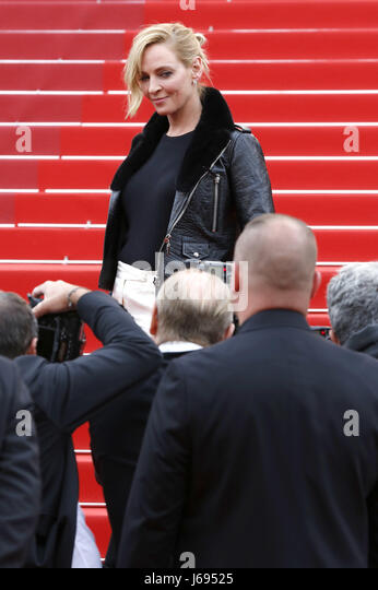 "Uma Thurman in der ""Nelyubov / Loveless' Premiere während der 70. Cannes Film Festival im Palais des Stockbild"