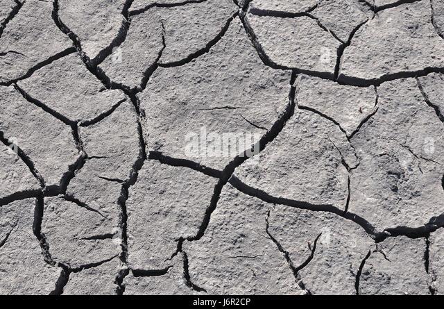 Gray geknackt Boden, Ansicht von oben Stockbild