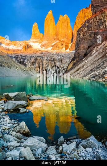 Torres del Paine Nationalpark, Patagonien, Chile Stockbild
