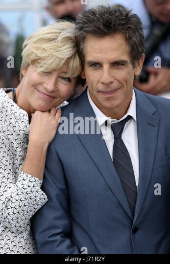 Cannes, Frankreich. 21. Mai 2017. Emma Thompson und Ben Stiller in 'The Meyerowitz Stories' Fototermin während Stockbild