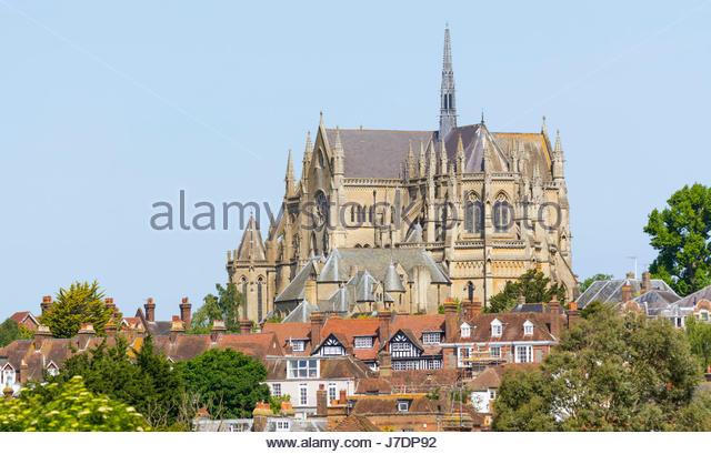 Arundel Kathedrale, eine römisch-katholische Kathedrale mit dem Architektur-Stil der Neugotik in Arundel, West Stockbild