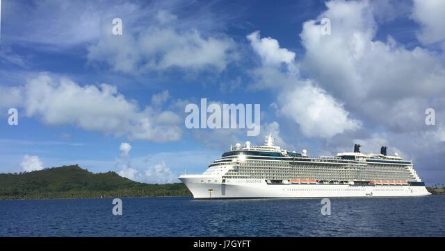 CELEBRITY SOLSTICE Schiff im Jahr 2017 betrieben von der Royal Caribbean Cruise Company.  Foto: Tony Gale Stockbild