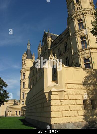 Schweriner Schloss Stockbild