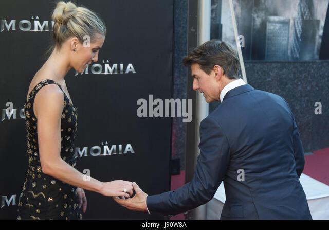 """Madrid, Spanien. 29. Mai 2017. Annabelle Wallis und Tom Cruise besuchen Sie """"Die Mumie"""" Premiere in Callao Stockbild"""