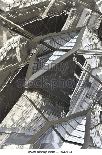 Abstrakte Elemente Reflexionen Detail, Barcelona-Spanien Stockbild