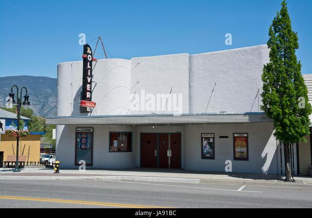 Kino in Oliver, BC, Kanada.  Kleinstadt-Kino. Stockbild