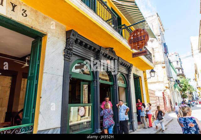 Cafe O Reilly, Essen gehen in Havanna Kuba, Havanna-Kuba, kubanische Restaurants Havanna, Essen feine Restaurants Stockbild