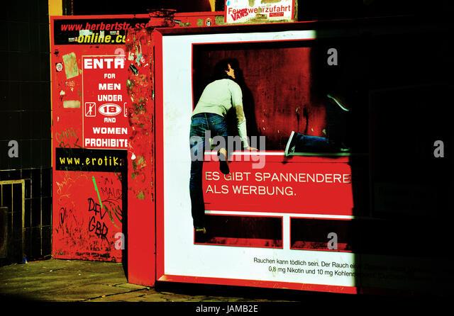 Herbertstraße, Hamburg, Deutschland Stockbild