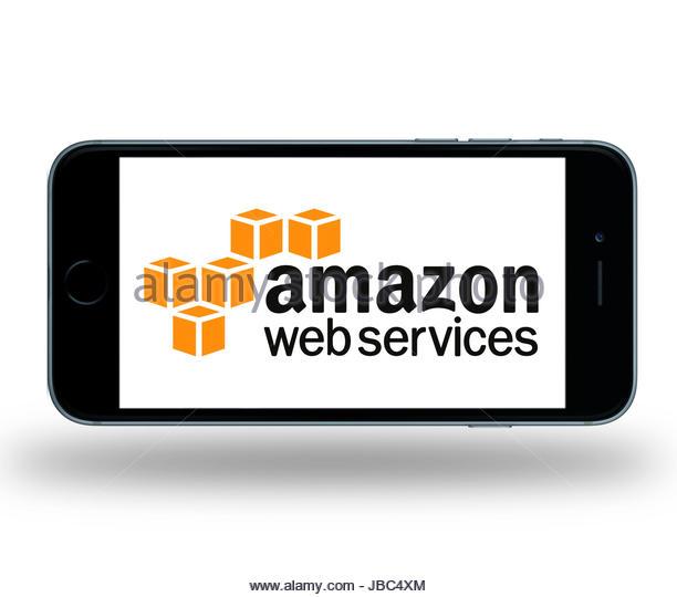 Amazon Web Services Symbol Logo app Stockbild