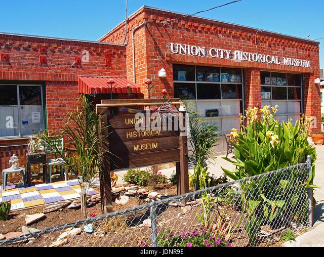 Union City historisches Museum, Kalifornien Stockbild
