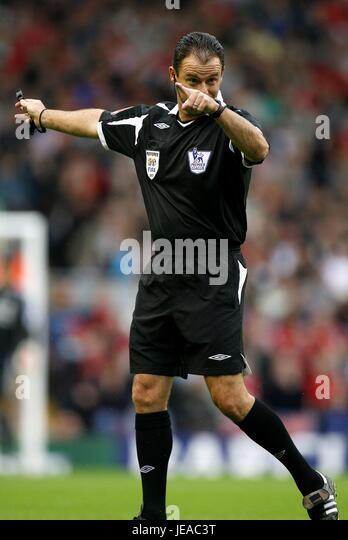 ROB Stile PREMIERSHIP Schiedsrichter Anfield Road LIVERPOOL ENGLAND 19. August 2007 Stockbild