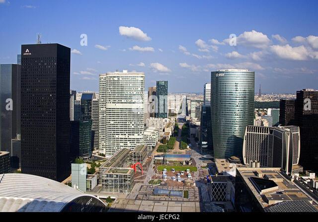 Frankreich, Paris, La Defense District, Büro-Hochhäuser, Capital, Businesscenter, hoch steigt, Gebäuden, Stockbild