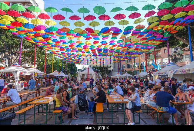 Essen Festival der Kulturen, Torremolinos, Andalusien, Spanien. Stockbild