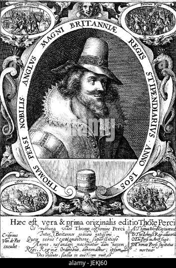 THOMAS PERCY (c 1560-1605) englischen katholischen teilgenommen der Schießpulver-Plot Stockbild