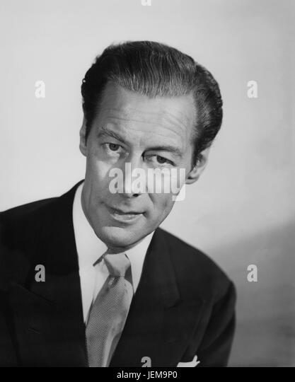 """Rex Harrison, Portrait Werbung für den Film, """"Himmelbett"""", Columbia Pictures, 1952 Stockbild"""
