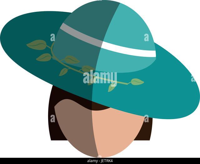 Leiter der gesichtslosen Frau Symbolbild Stockbild