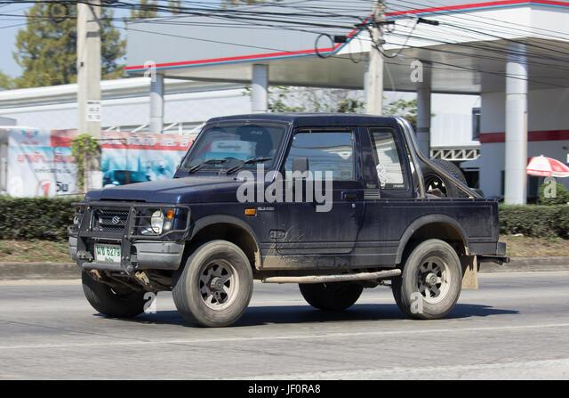CHIANG MAI, THAILAND-26. Januar 2017: Pkw, Suzuki Caribian. Foto in no.1001 Straße ca. 8 km von der Innenstadt Stockbild