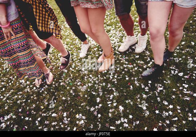 Sommerfest mit Freunden feiern Stockbild