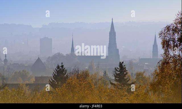 Blick von der Höhe Bismarck-Tower Konstanz Stockbild