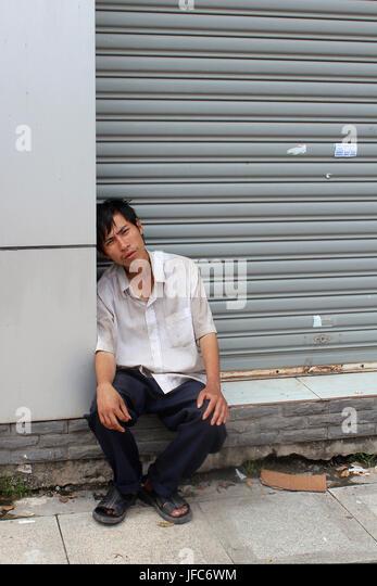 Bettler in Vietnam Stockbild
