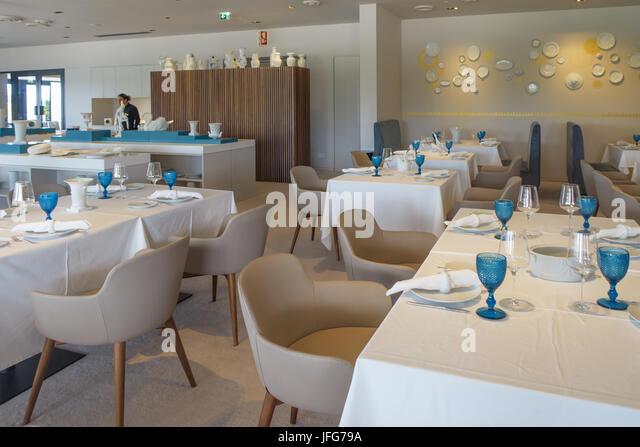 Innenraum der Quinta De S. Caetano Vista Alegre Hotel Restaurant Stockbild