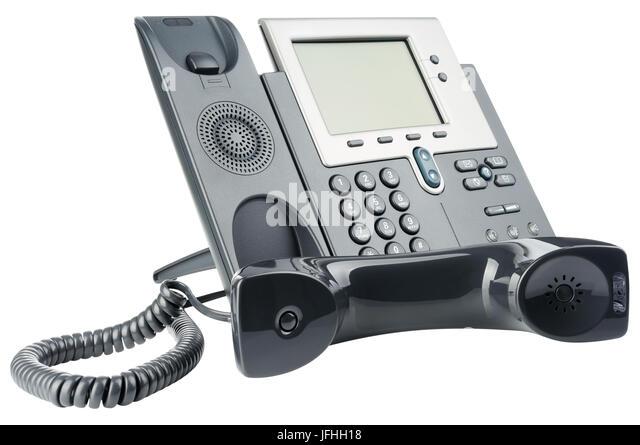 Büro-IP-Telefon-set Stockbild