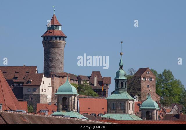 """Kaiserburg, Altstadt, Nürnberg, Franken, Bayern, Deutschland, Europa, ich Schloss """"Kaiserburg"""", Altstadt, Stockbild"""