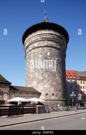 """Frauentorturm, Altstadt, Nürnberg, Franken, Bayern, Deutschland, Europa, ich alte Turm """"Frauentorturm"""", Stockbild"""
