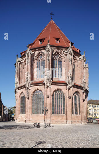 """Sankt Lorenzkirche, Altstadt, Nürnberg, Franken, Bayern, Deutschland, Europa ich alte Kirche """"Lorenzkirche"""", Stockbild"""