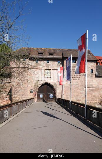 """Stadttor Frauentor, Altstadt, Nürnberg, Franken, Bayern, Deutschland, Europa ich alte Stadttor """"Frauentor"""", Stockbild"""