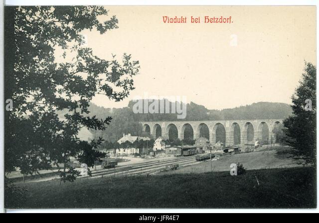 14044-Hetzdorf (Flöhatal)-1912-Viadukt-Brück & Sohn Kunstverlag Stockbild