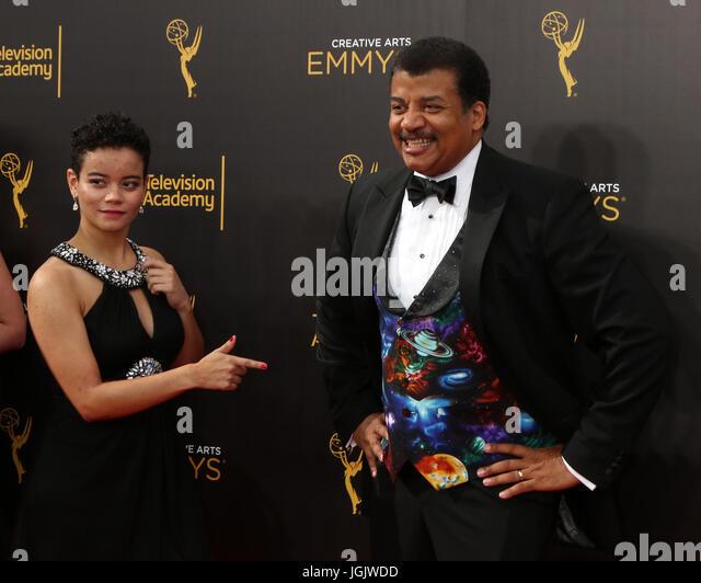 Los Angeles, CA, USA. 11. September 2016. LOS ANGELES - SEP 11: Miranda Tyson, Neil DeGrasse Tyson auf 2016 Primetime Stockbild