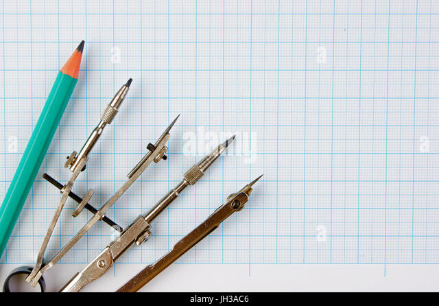 old compass tool drawing vintage stockfotos old compass tool drawing vintage bilder alamy. Black Bedroom Furniture Sets. Home Design Ideas