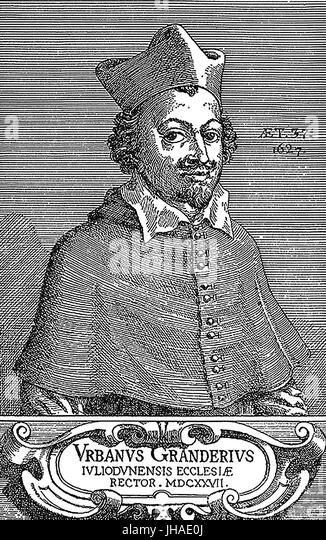 URBAIN GRANDIER (1590-1634) französischen katholischen Priester Stockbild