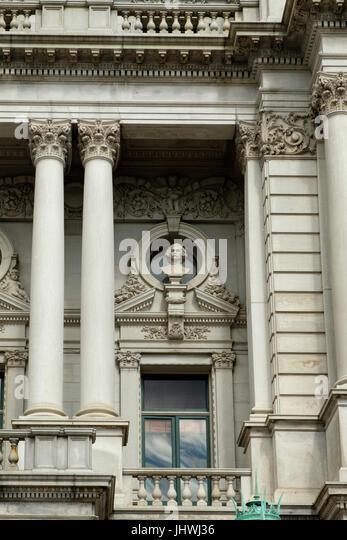 Hawthorne Büste, bedeutende Männer der Buchstaben Skulptur, Thomas Jefferson Building, Library of Congress, Stockbild
