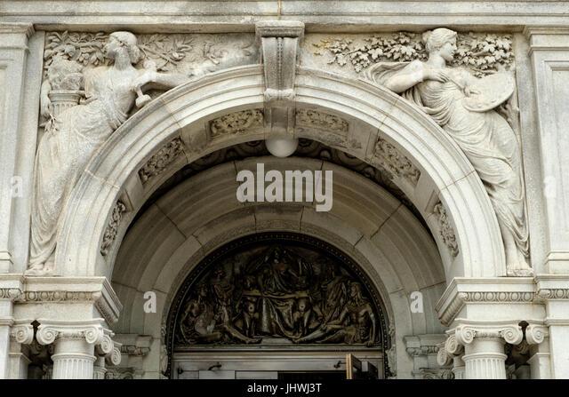 Skulptur und Malerei, Kunst Skulptur, Thomas Jefferson Building, Bibliothek des Kongresses, Kapitol, Washington Stockbild