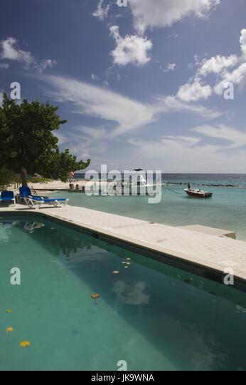 Curacao, Piscadera Bay, Strand, Meer, Schwimmbad, Detail, ABC-Inseln, Kleine Antillen, Niederländische Antillen, Stockbild