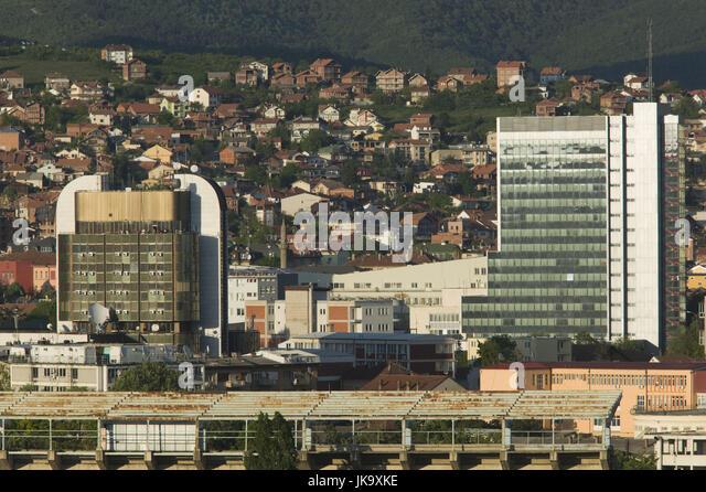 Kosovo, Pri?tina, Stadtzentrum, Regierungsgebäude, Stockbild