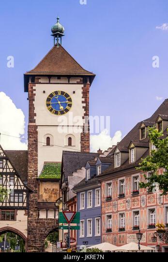 Kajo, Torturm, Altstadt, Freiburg, Baden-Württemberg, Schwarzwald, Schwarzwald, Deutschland Stockbild