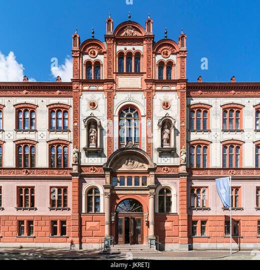 Universität Rostock, gegründet im Jahre 1419, Mecklenburg-Vorpommern, Stockbild